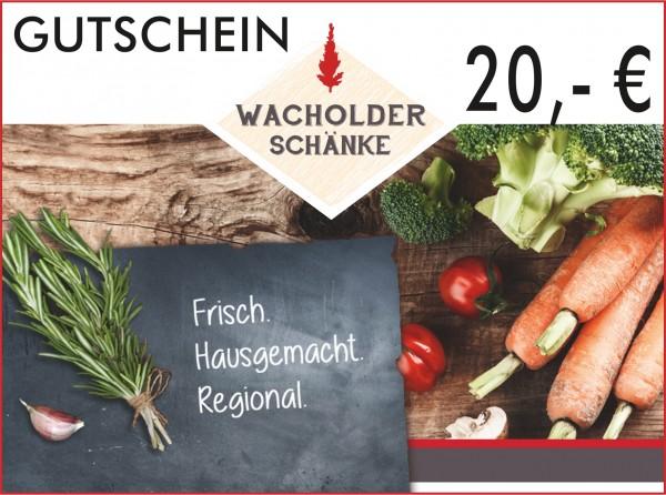 Gutschein Wacholderschänke 20,- €